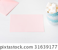 Blank paper pink card Valentine's day invitation 31639177