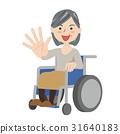 노인 여성 휠체어 31640183