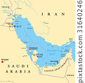 Persian Gulf region political map 31640246