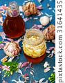 Healthy food, garlic in bee honey 31641435