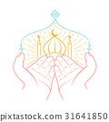 Icon of hands praying namaz 31641850