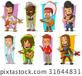 Cartoon cool funny different characters vector set 31644831