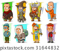 Cartoon cool funny different characters vector set 31644832