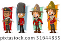 Cartoon soldier and rangers character vector set 31644835