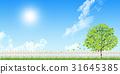 fence, wood, sky 31645385