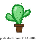 cactus isolated illustration on white background 31647086