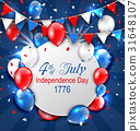 Greeting Card for American Independence Day, 4th 31648107