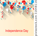 American Patriotic Banner for Independence Day 31648116