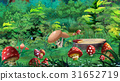 Amanita Mushrooms in a Forest Glade 31652719