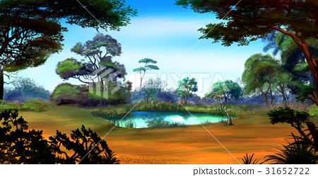 Small Pond on a Forest Glade in a Summer Day 31652722