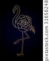 可爱 火烈鸟 图形 31656248