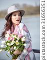 woman flower springtime 31656351