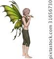 Fairy Boy Playing a Flute 31656730