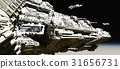Space Battle Cruiser Deploying Scout Ships 31656731