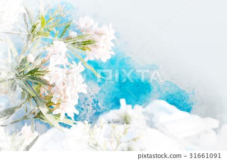 Beautiful flowers mix sketch illustration 31661091