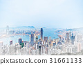 Skyline of Hong Kong HK mix sketch illustration 31661133