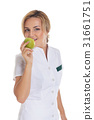 Young attractive female doctor in white clothes 31661751