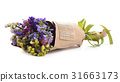 Bouquet of Dry Flowers isolated on a background. 31663173