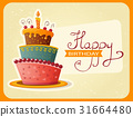 birthday card with cake 31664480