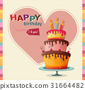 birthday card with cake 31664482