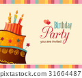 birthday card with cake 31664487