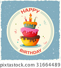 birthday card with cake 31664489