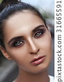 Beauty portrait of female face with natural clean skin 31665591