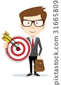 Businessman with a big target. 31665809