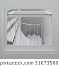Spiral stair through the window 31673560