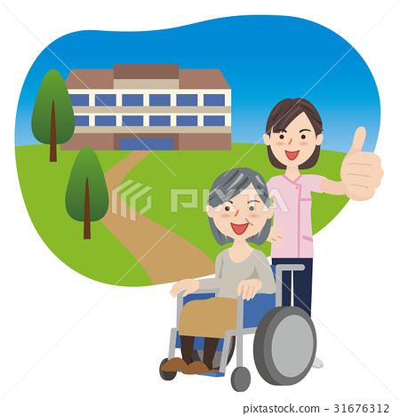 여성, 여자, 휠체어 31676312