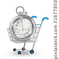 real steel stopwatch on a shopping cart 31677850