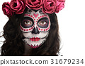 bright halloween makeup 31679234