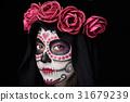 gothic skull portrait 31679239