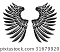 Pair of Eagle Bird or Angel Wings 31679920