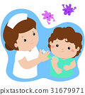 Vaccination child cartoon vector. 31679971
