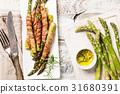 asparagus, bacon, pork 31680391