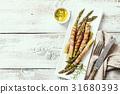 asparagus, bacon, pork 31680393