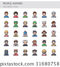 People Avatars , Thin Line and Pixel Perfect Icons 31680758