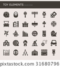 Toy Elements , Thin Line and Pixel Perfect Icons 31680796