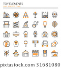 Toy Elements , Thin Line and Pixel Perfect Icons 31681080