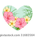 pink, heart, floral 31683564