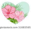 pink, heart, floral 31683565
