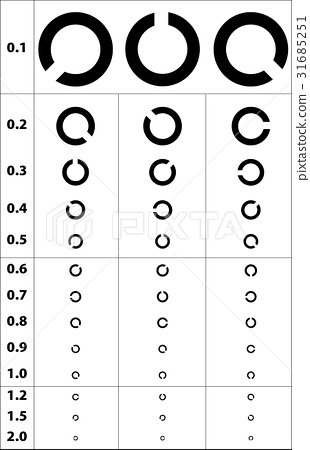 Vision test - Stock Illustration [31685251] - PIXTA