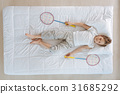 Nice little boy playing badminton 31685292