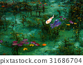 pond, lagoon, fish 31686704