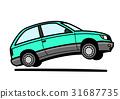 80年代風 国産ハッチバック 薄緑 31687735