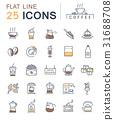 Set Vector Flat Line Icons Coffee 31688708