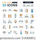 cycling, icon, set 31688801