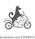 dog, logo, scooter 31688815