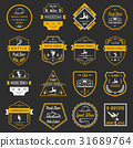 Vector Set of Badges, Logos and Sign Break Dance 31689764